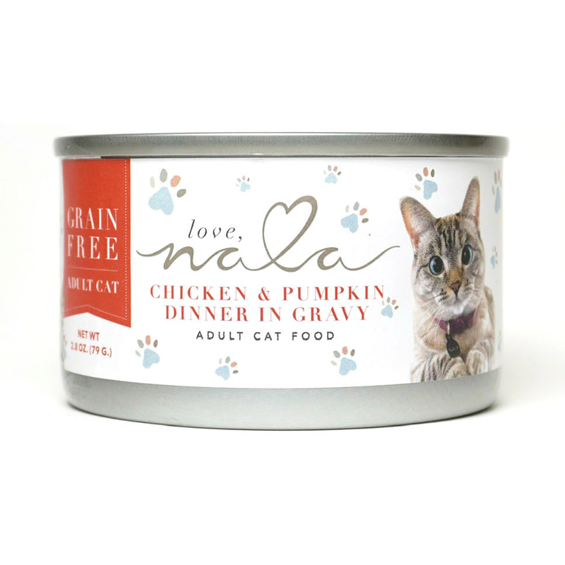Chicken & Pumpkin Dinner in Gravy Adult Cat Food, 2.8-oz, Case of 12