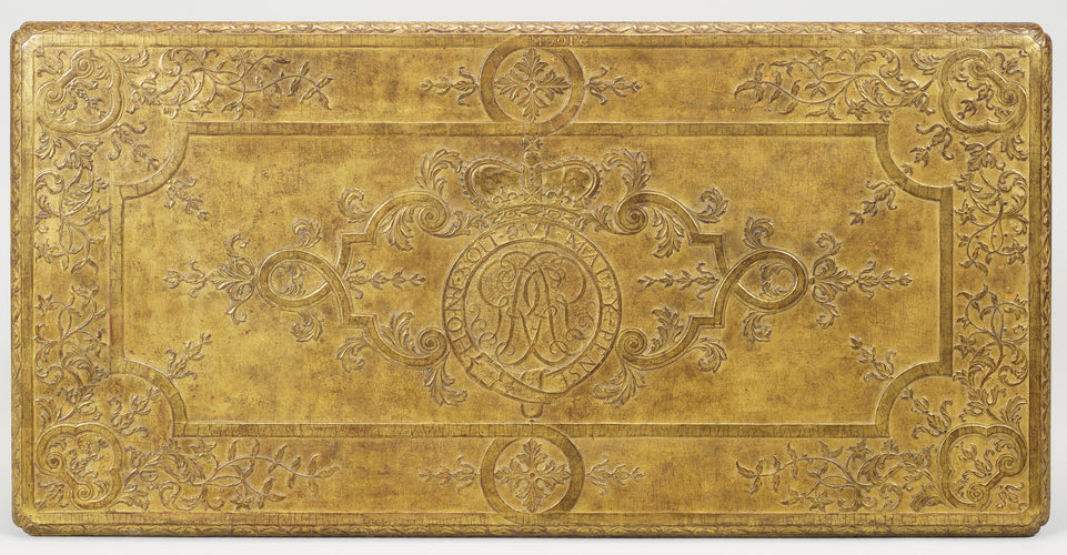 A gilt gessso side table with intricate carving by James Moore. Photo courtesy of the Royal Collection Trust.
