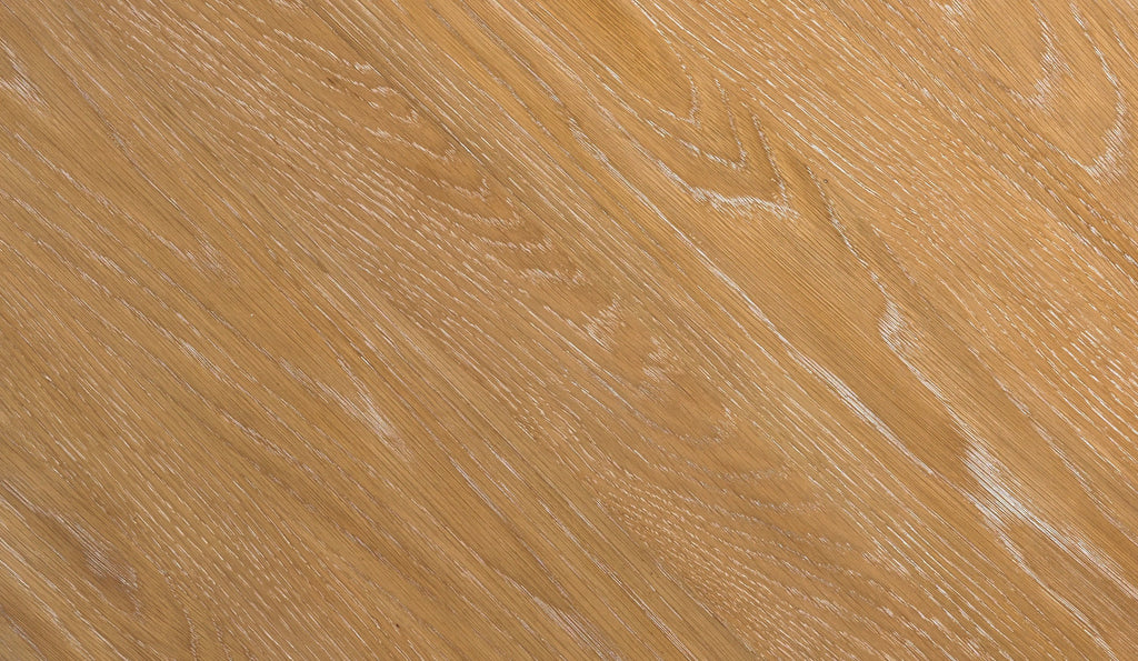 A close up of the cerused finish on our Wave Side Table