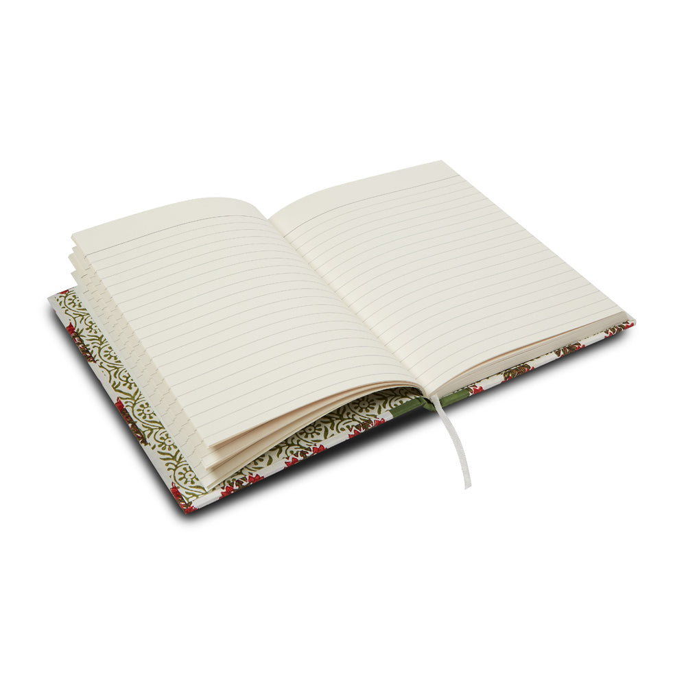 hand-blocked lined notebook (navy)