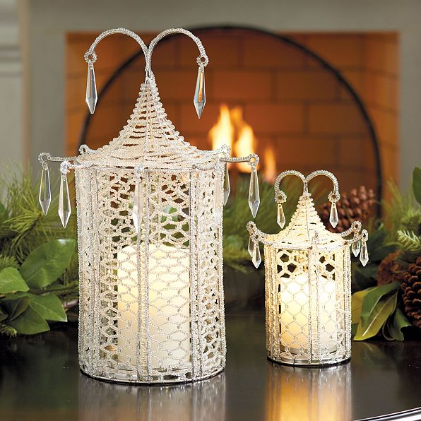 beaded pagoda flameless candle cover
