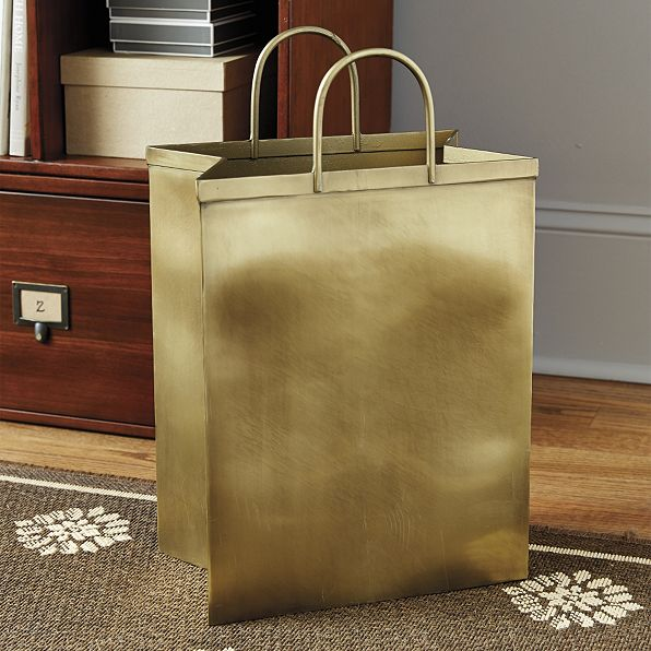 shopping bag waste bin