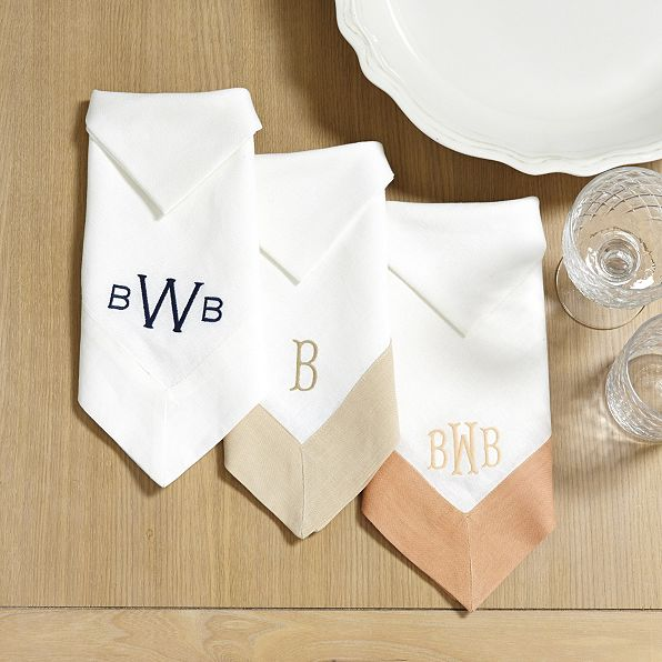 banded dinner napkins (set of 4)