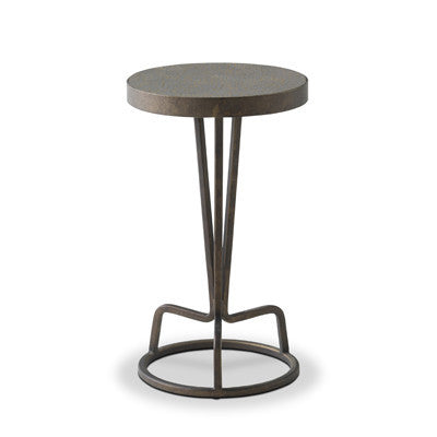 Bottoms Up Drinks Table (Silver Lacquer)