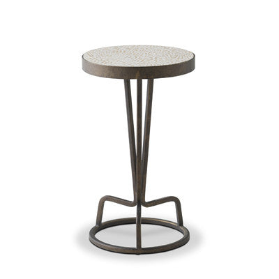 Bottoms Up Drinks Table (Beige Lacquer)
