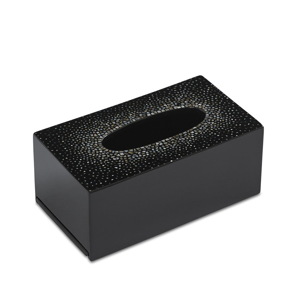 Dappled Tissue Box Cover (Black)