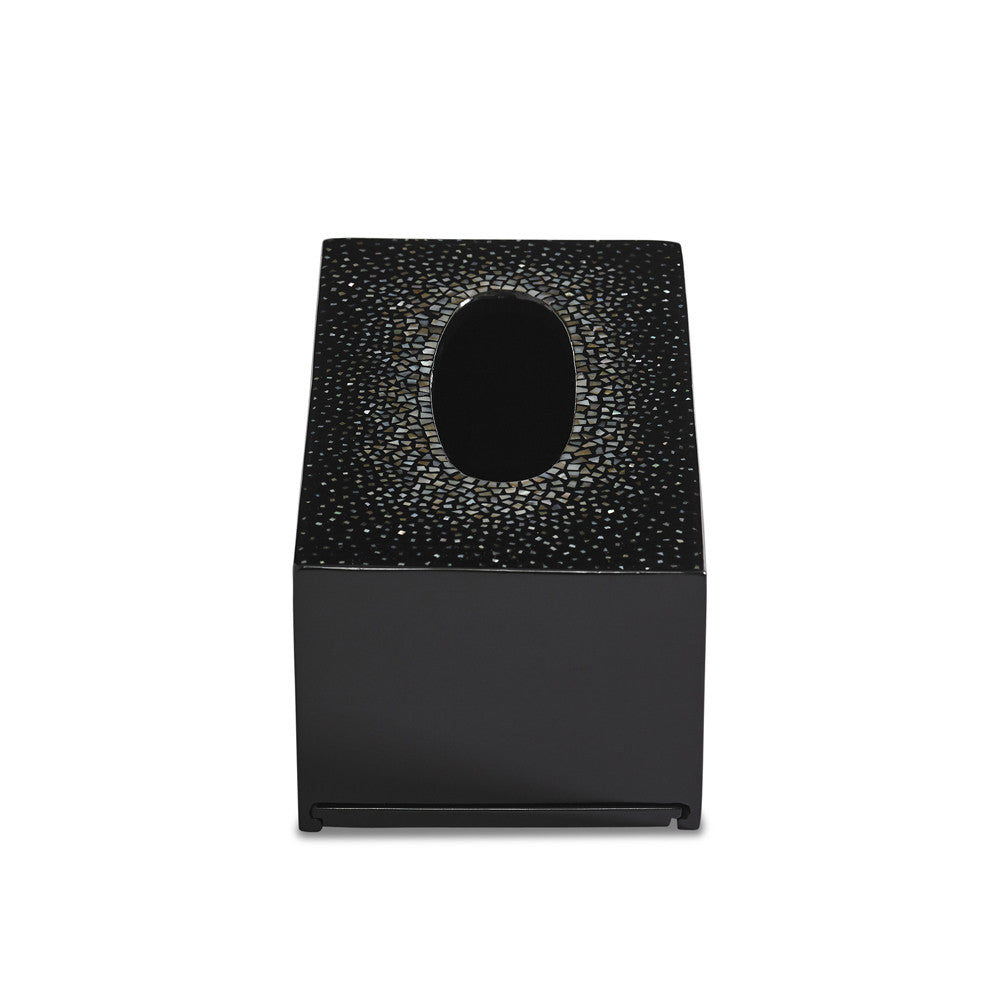 dappled tissue box (black)