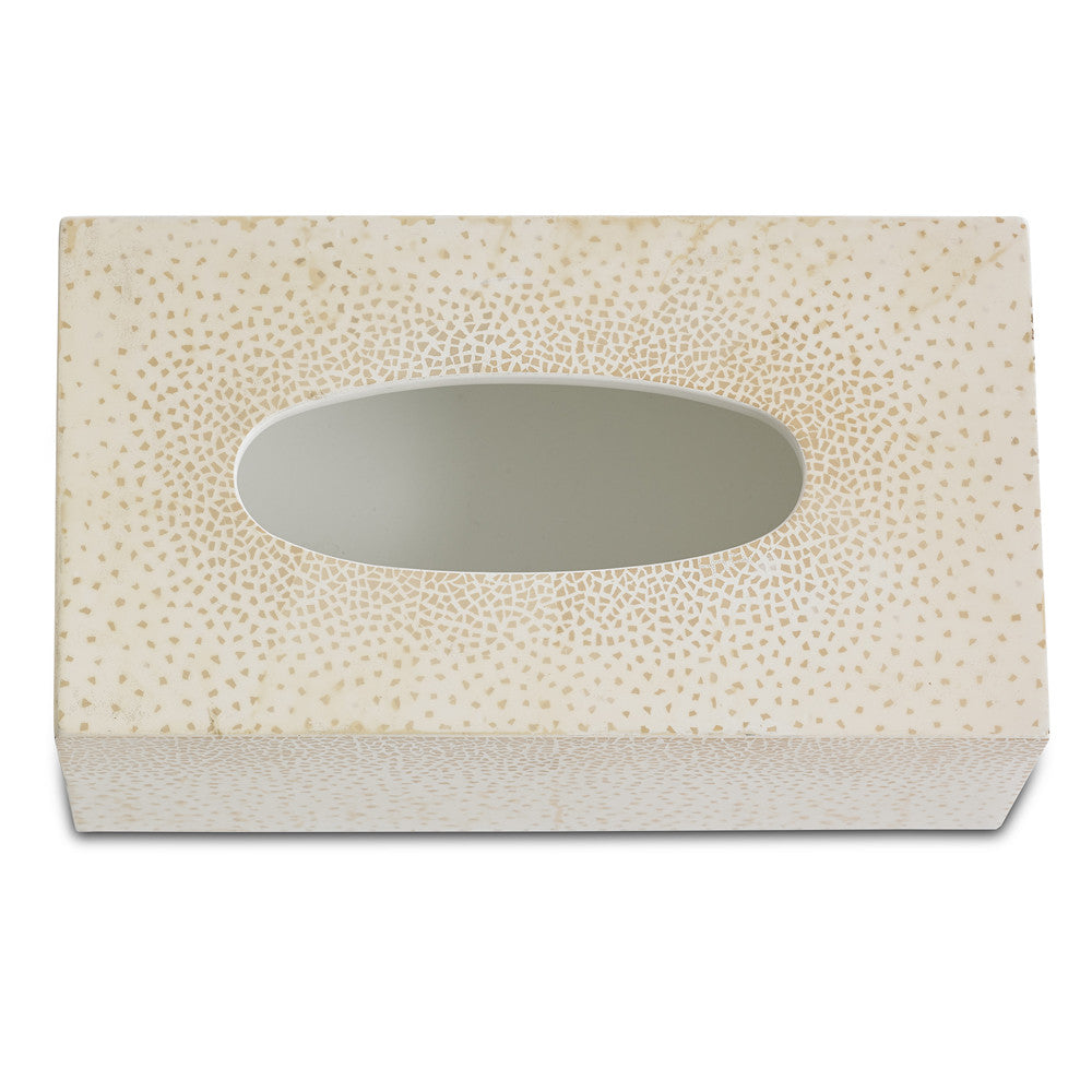 dappled tissue box (cream)
