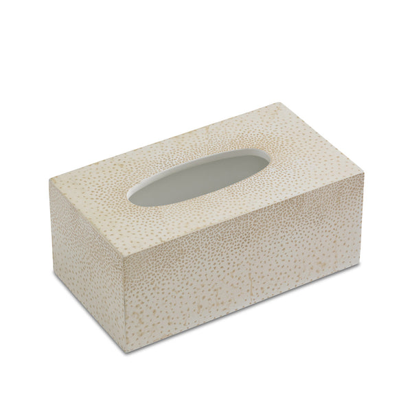 Dappled Tissue Box Cover (Cream)
