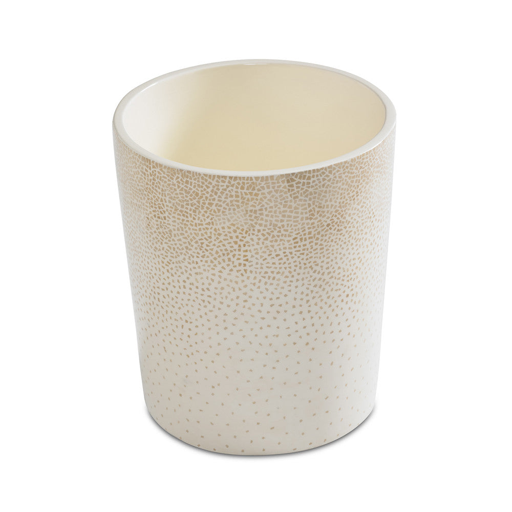 dappled waste bin (cream)