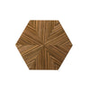 Hexagon Drinks Table (Glossy Wood Lacquer)