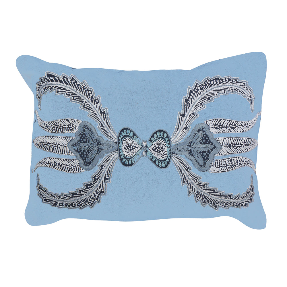 lalea lumbar pillow (blue)