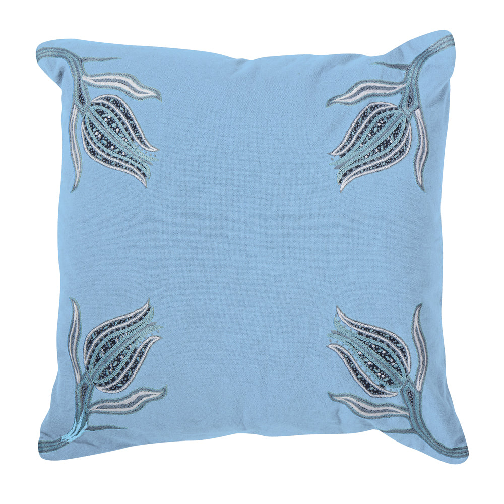 "lalea 20"" pillow (blue)"