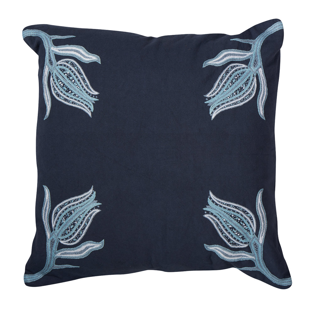 "lalea 20"" pillow (indigo)"