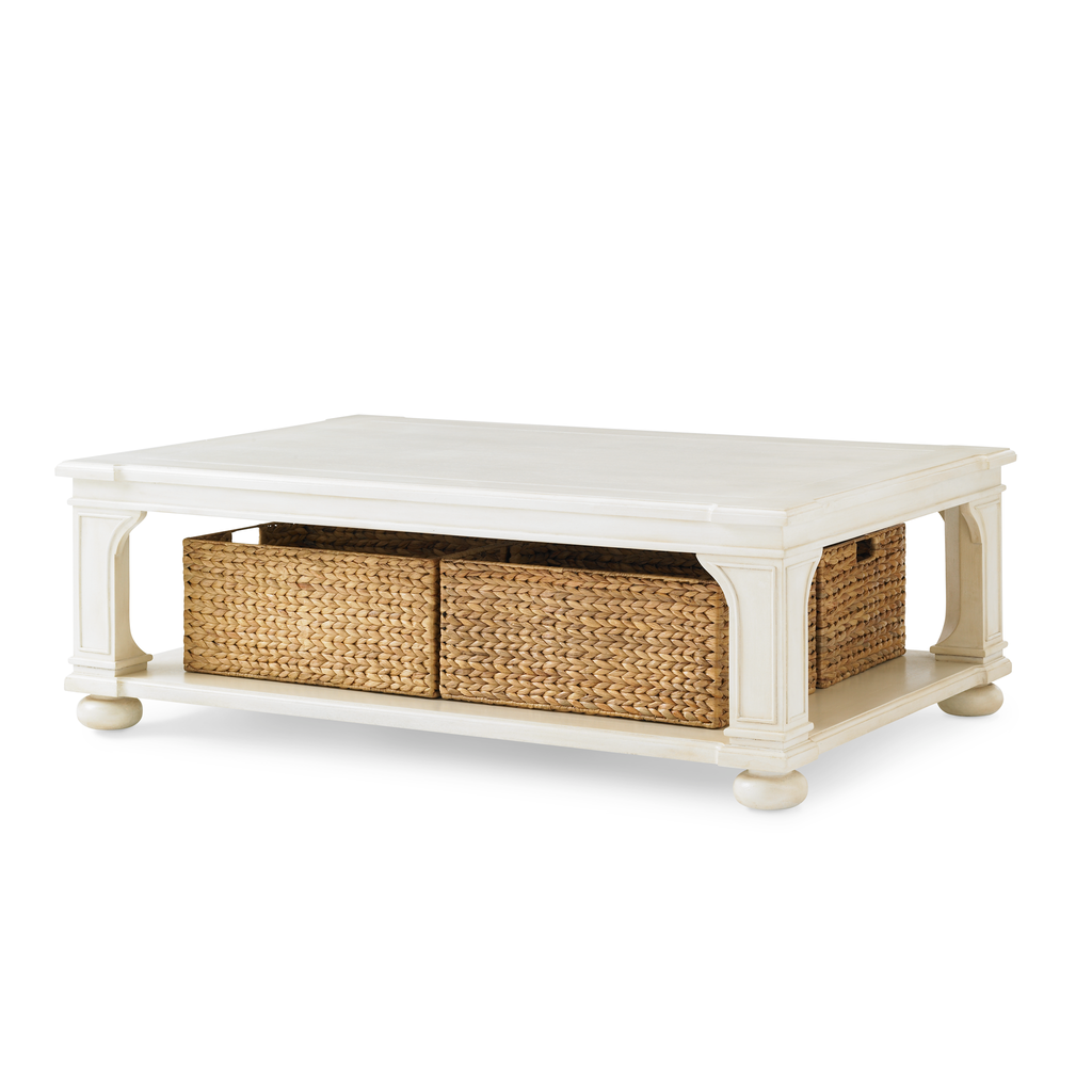 low country coffee table (white)