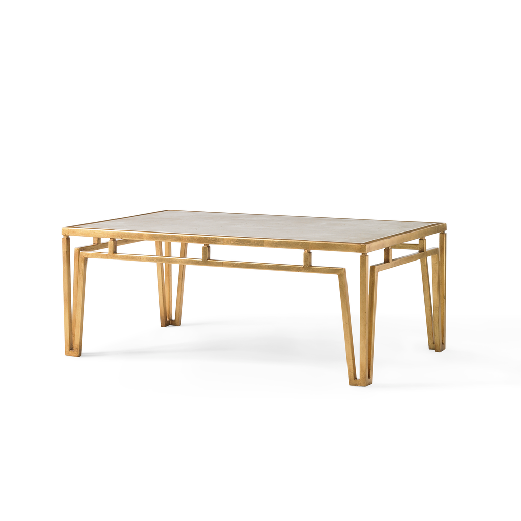 Klein Marble Coffee Table: Modern Marble Coffee Table (Gold)