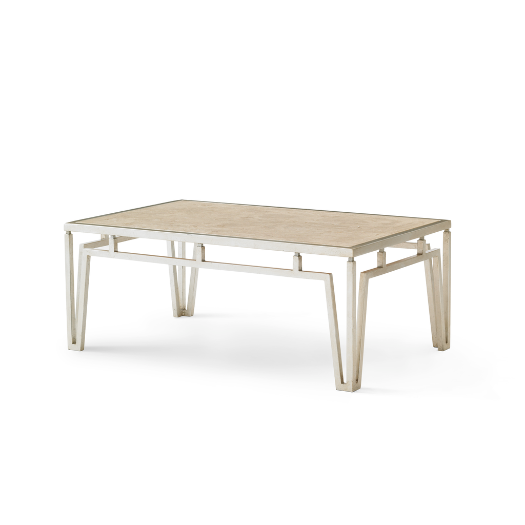 modern marble coffee table (silver)