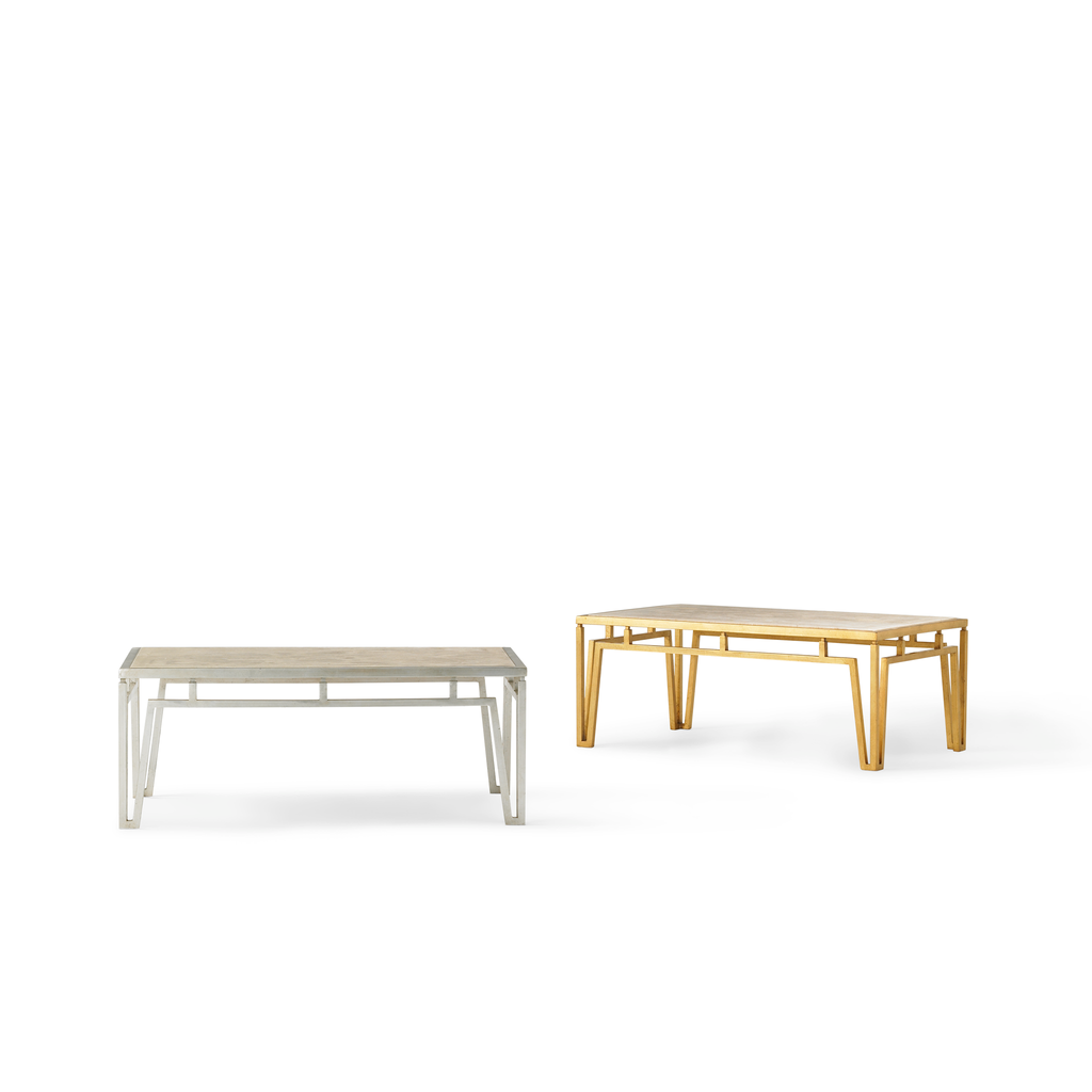 modern marble coffee table (gold)