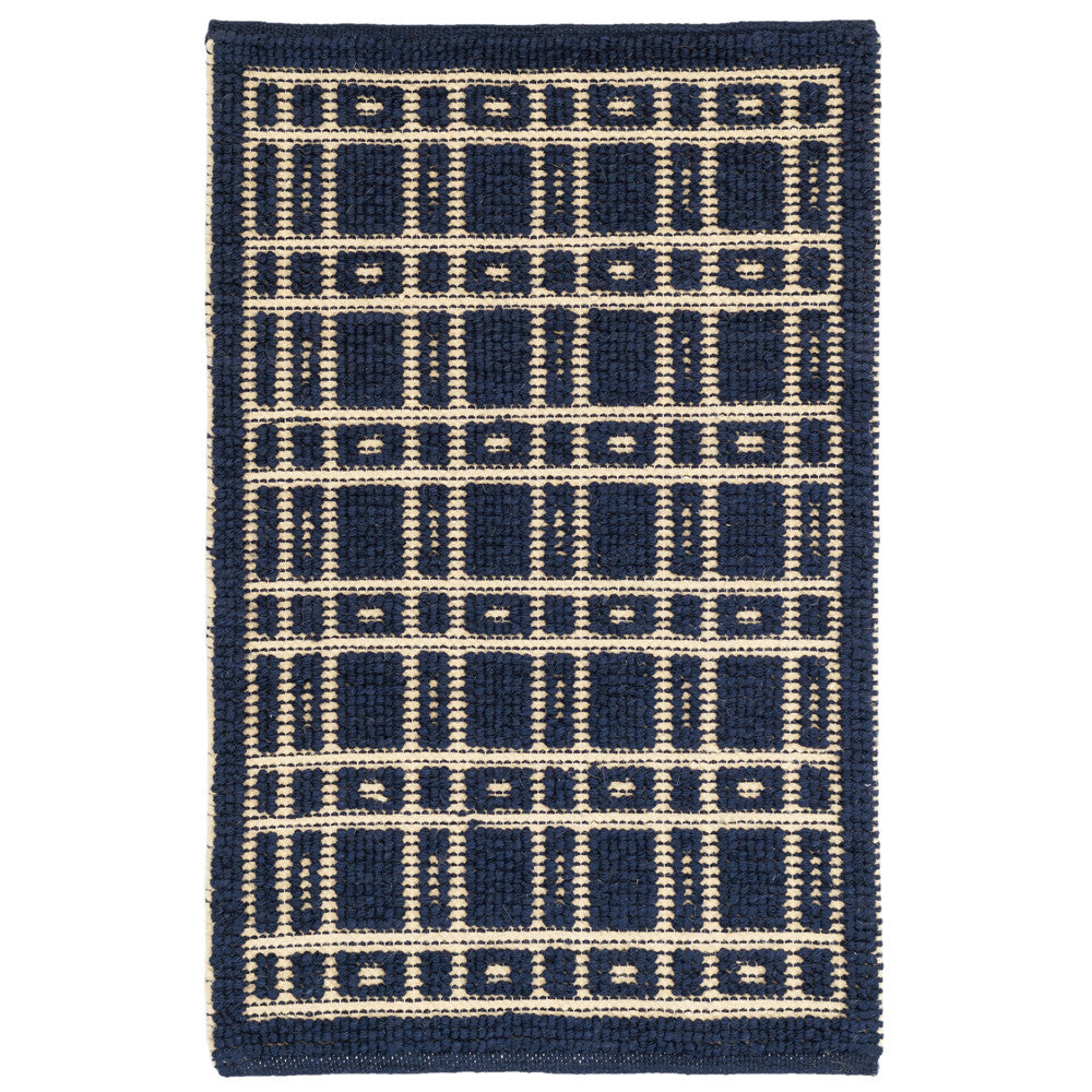 oliver woven wool rug (navy)