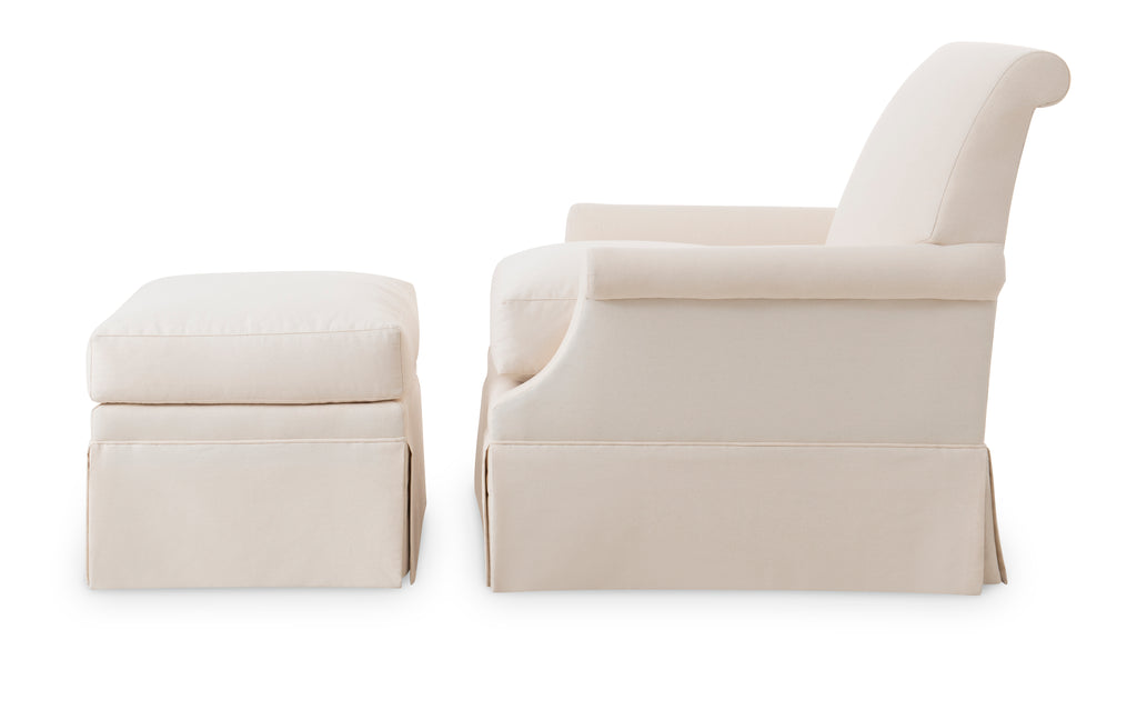 origo chair and ottoman (straight skirt)