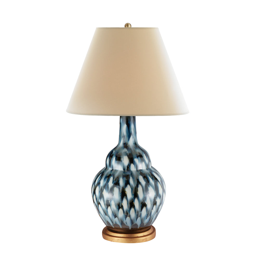 Pheasant Feather Lamp (Blue)