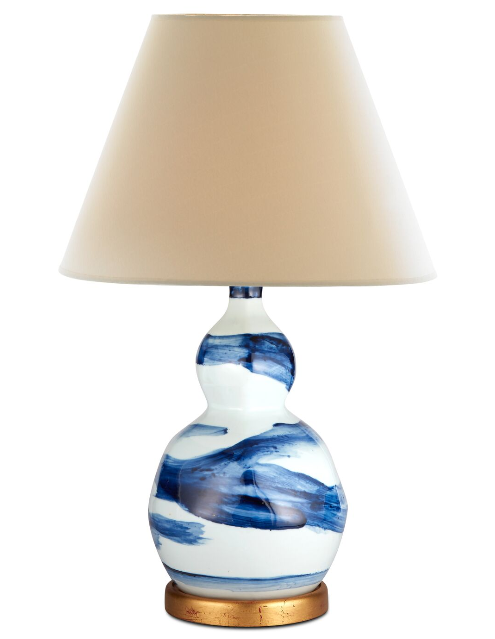 small brush stroke lamp (blue)