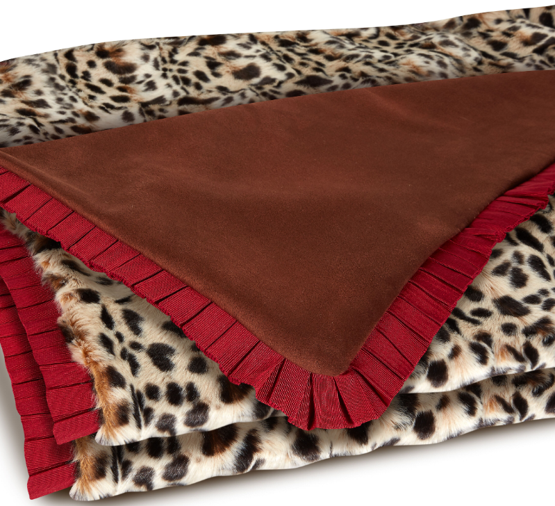 naughty miss bunny throw (leopard)