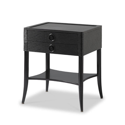 tambour side table