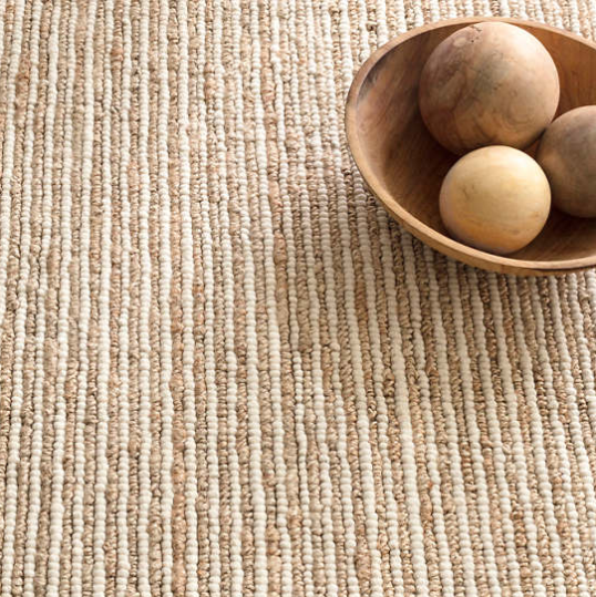 twiggy woven wool rug (natural)