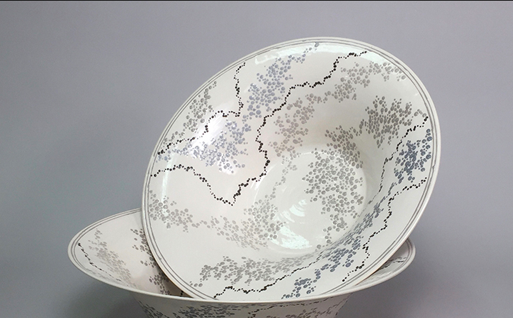 "roy hamilton ceramics: 20"" flared bowl"