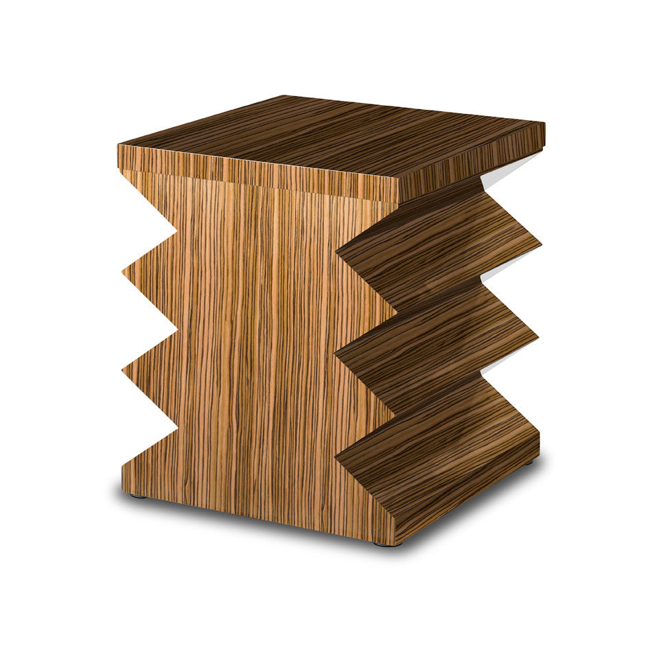 Zigzag Drinks Table (Glossy Wood Lacquer)
