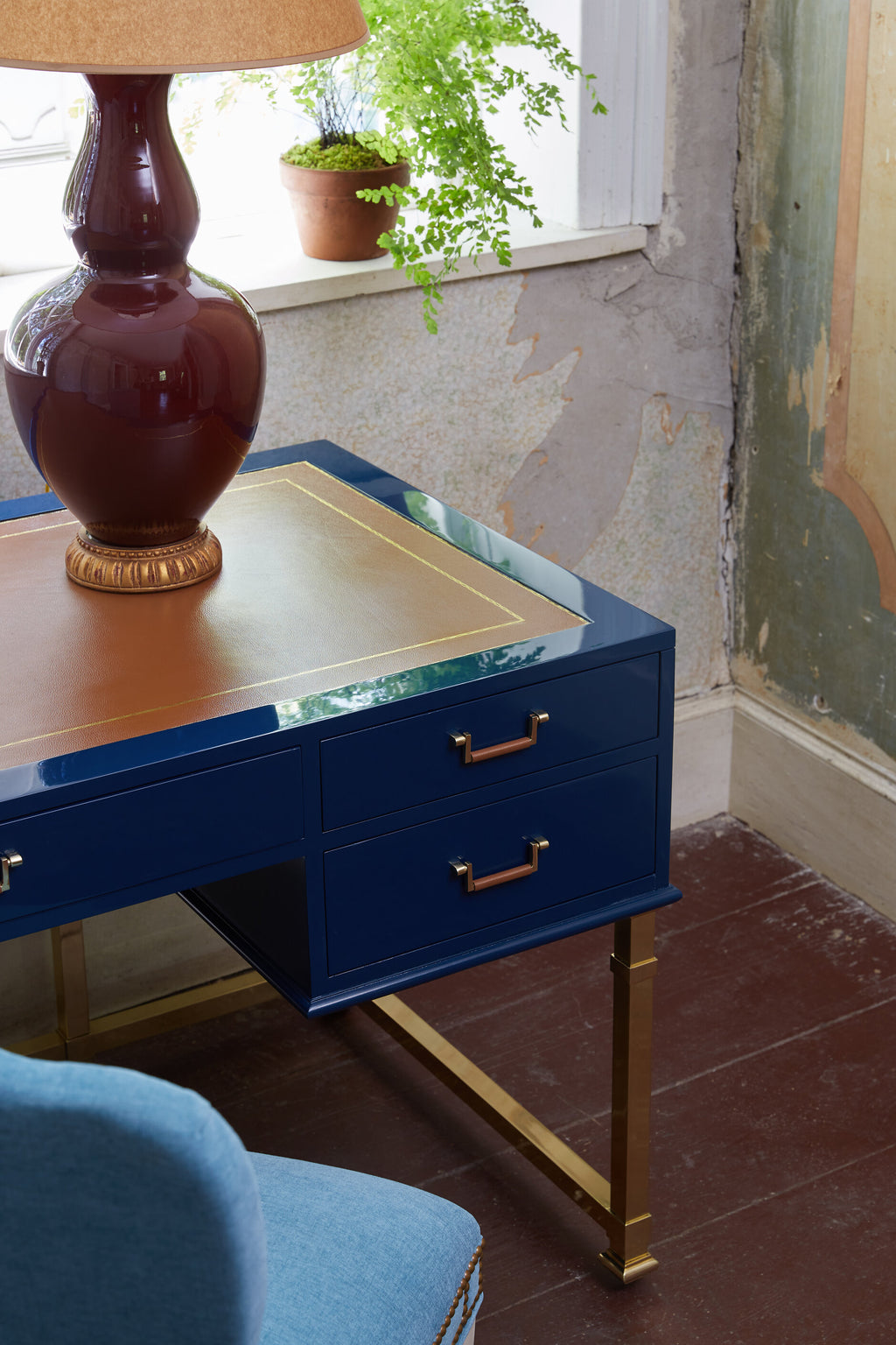 alix desk (blue)