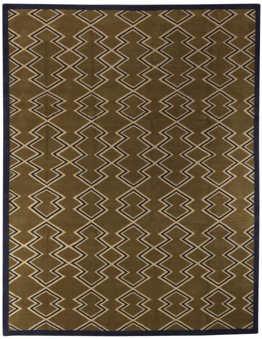 aztec brown rug (wool)