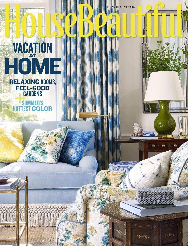 Family Style in House Beautiful Magazine July/August 2018
