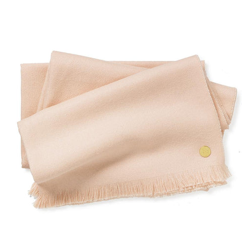 Soft Pink Baby Alpaca Throw