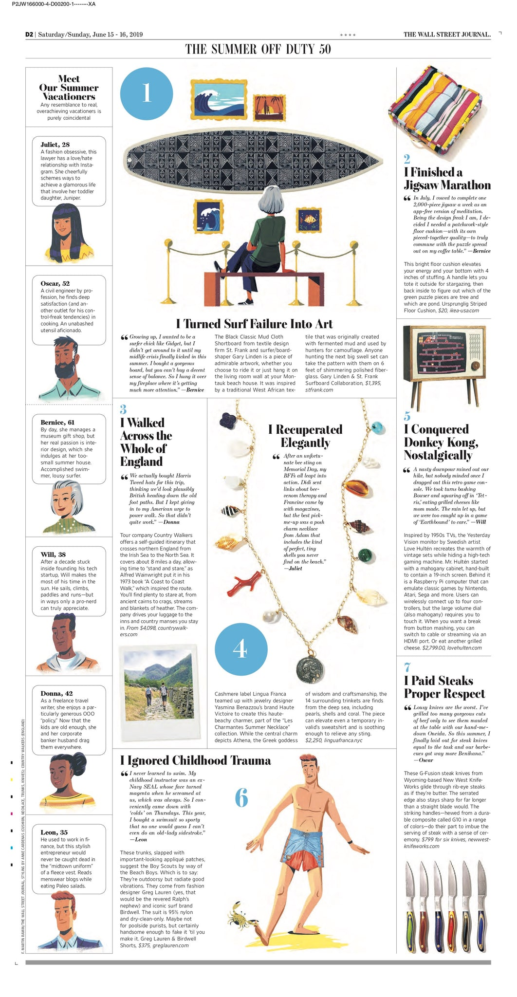 Wall Street Journal, Off Duty - June 2019