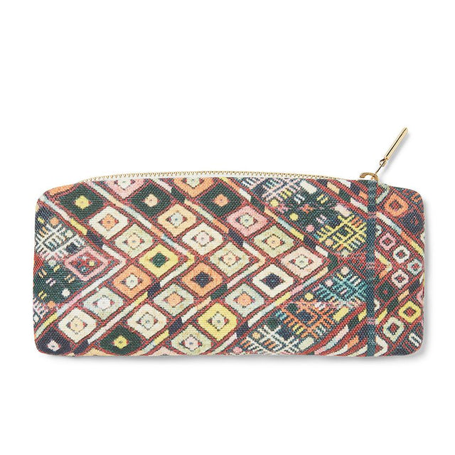 Pink Diamond Huipil - Slim Zip Pouch Travel Accessories St. Frank