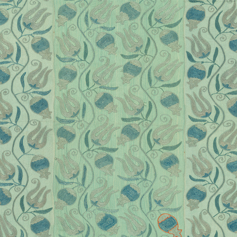 Aqua Pomegranate Suzani - Fabric
