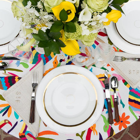 St. Frank Multicolor Otomí Tablecloth