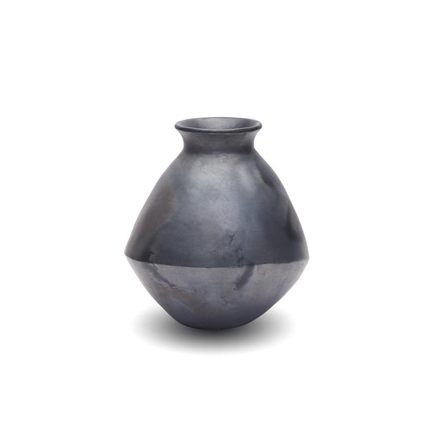 Black Clay - Asymmetrical Vase Decorative Accessory Mexico