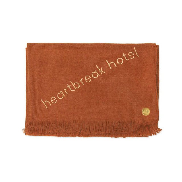 """Heartbreak Hotel"" Embroidered Baby Alpaca Throw - Blanket"