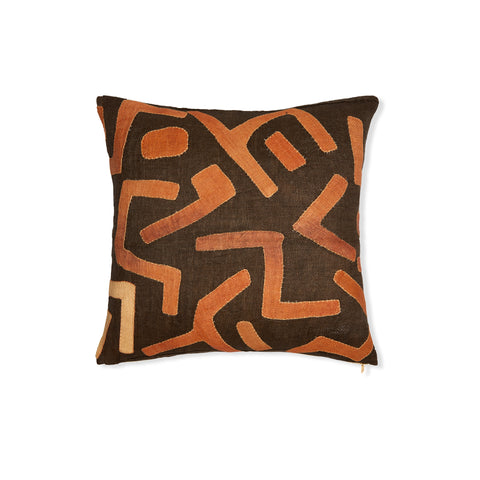 Kuba Cloth XXVIII - Throw Pillow