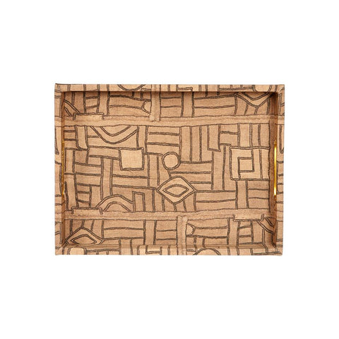Golden Maze Kuba Cloth - Standard Tray