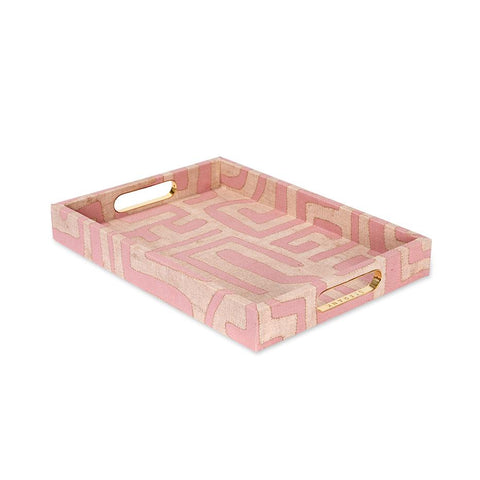 Terracotta Classic Kuba Cloth - Standard Tray