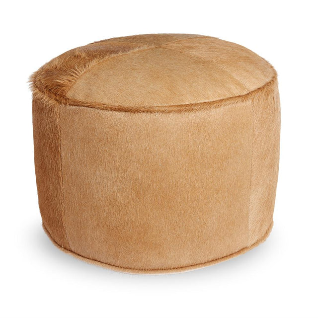 Palomino Cowhide Pouf - Ottoman Furniture Forsyth x St. Frank