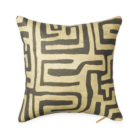 Coffee Classic Kuba Cloth - Throw Pillow