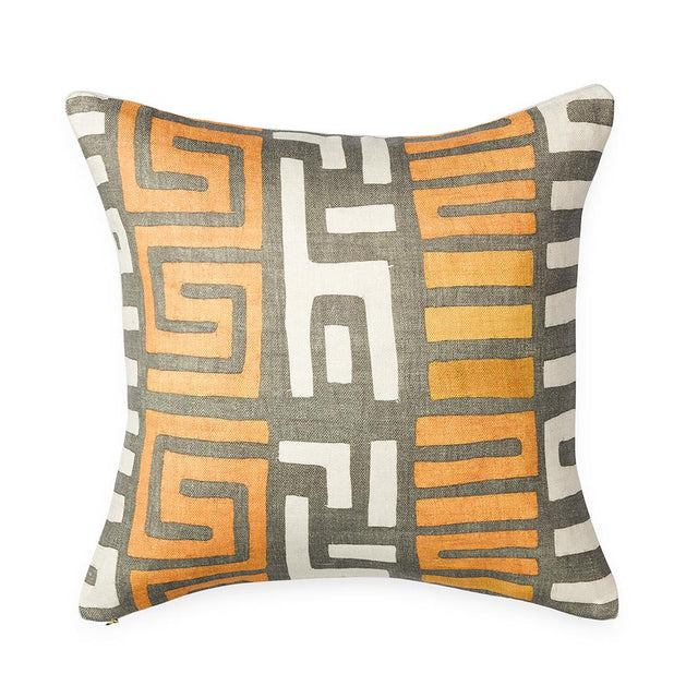 Amber Stripe Kuba Cloth - Throw Pillow Pillow St. Frank