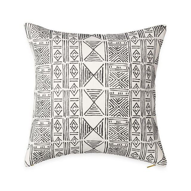 Ecru Classic Mud Cloth - Throw Pillow