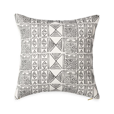 Ecru Classic Mud Cloth - Euro Pillow