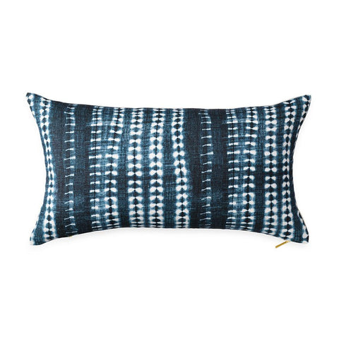 Dark Vines Indigo - Lumbar Pillow